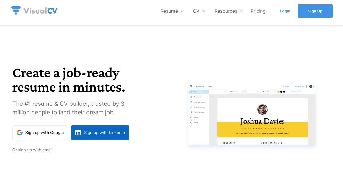 visualcv.com Review by TopResumeWritingServices