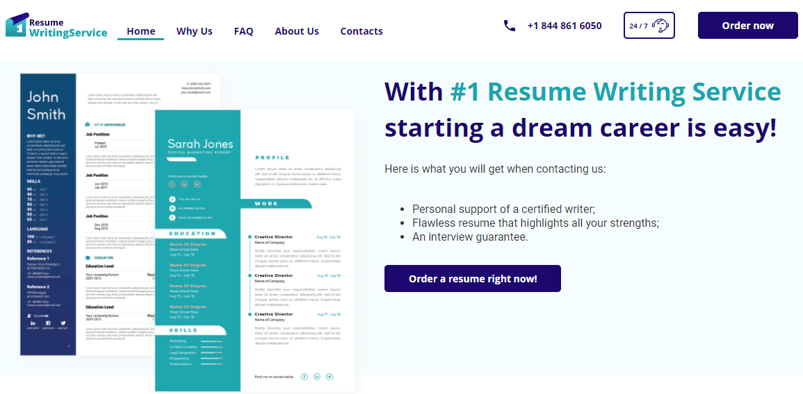 1resumewritingservice.com Review by TopResumeWritingServices