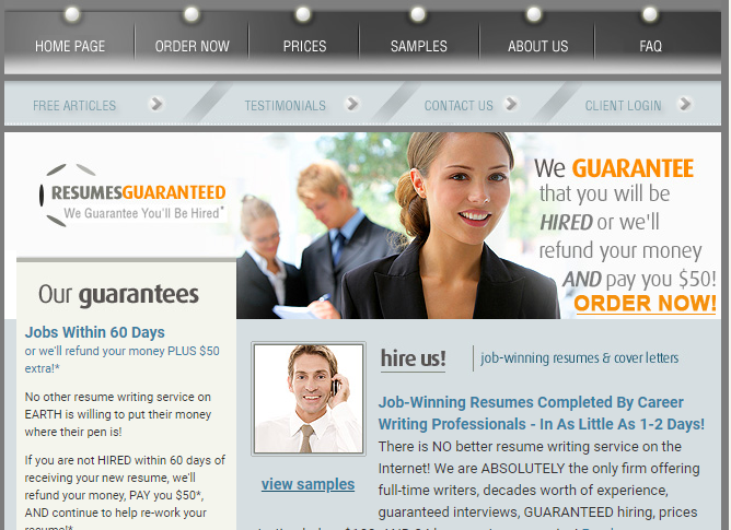 resumesguaranteed.com Review by TopResumeWritingServices