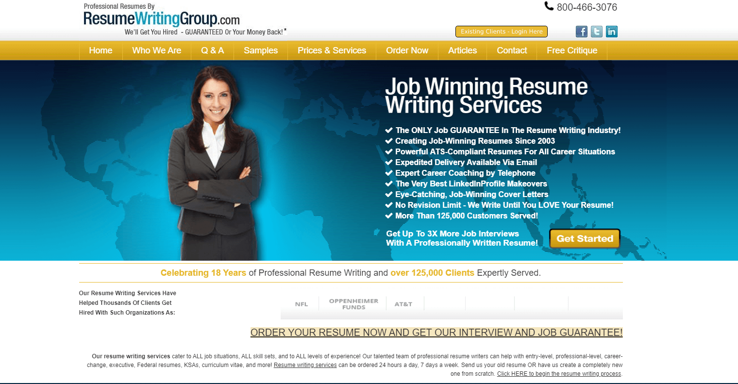 resumewritinggroup.com Review by TopResumeWritingServices