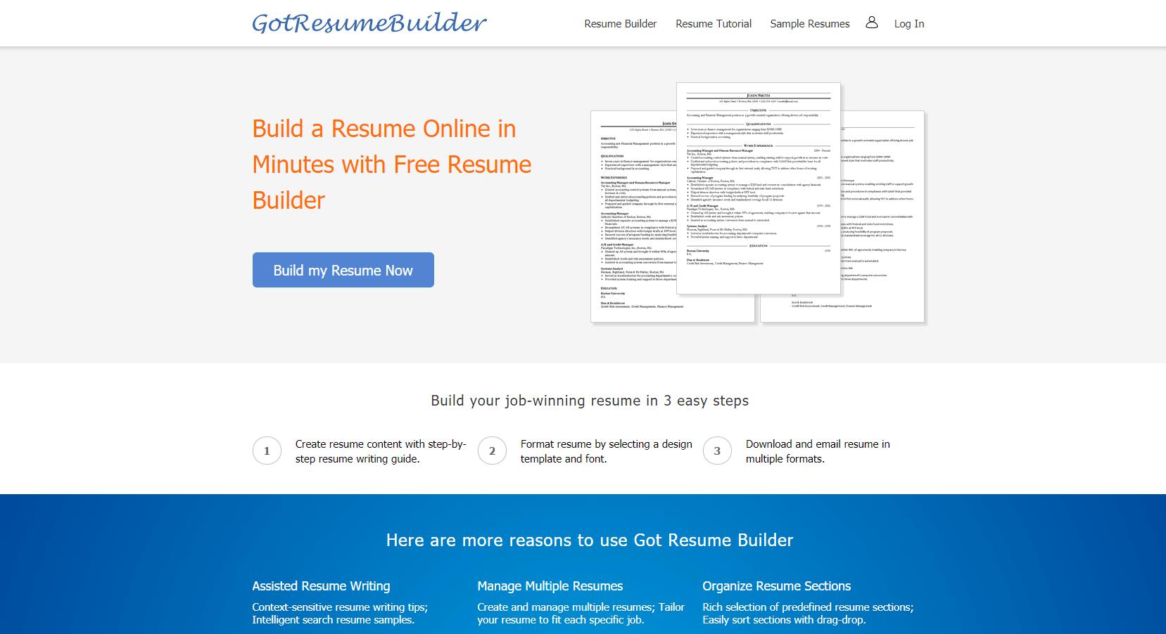 gotresumebuilder.com Review by TopResumeWritingServices